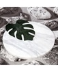 3Wdesign El Yapımı Mermer Sunum Tablası Yeşil
